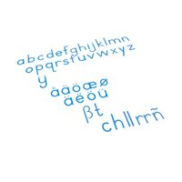 Medium Movable Alphabet: International Print - Blue