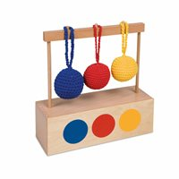 Nienhuis - Imbucare Box With 3 Coloured Knit Balls