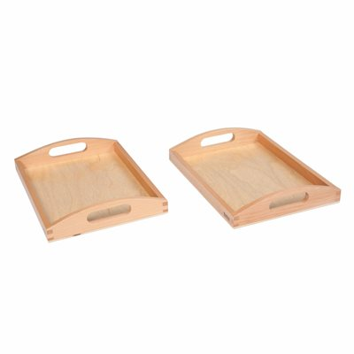 Nienhuis - Wooden Tray Small - Set of 2