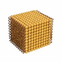 Golden Bead Cube Of 1000