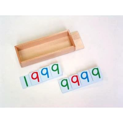 Large Plastic Number Cards 9000