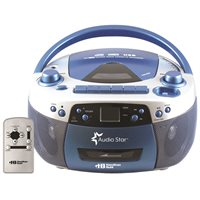 Portable CD / Cassette Player with USB Recording / Playback*