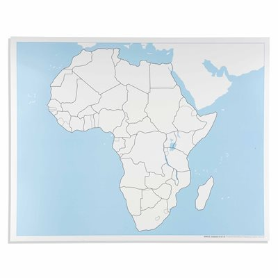 Nienhuis - Africa Control Map: Unlabeled