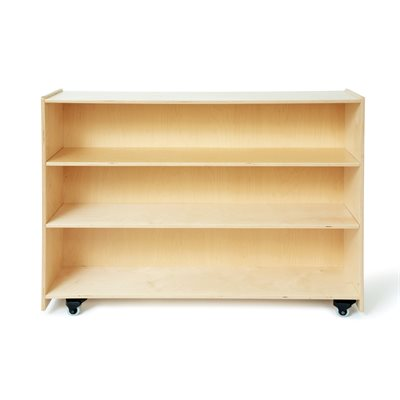 "48"" x 36"" x 13"" Closed Back Shelf with Casters"