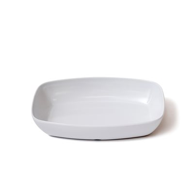 "10.75"" x 7.5"" x 2"" Melamine Rectangular Serving Dish - Heavy Duty - White"