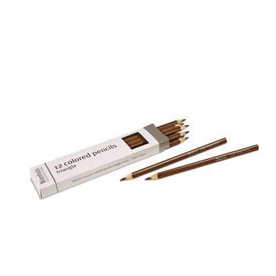 Nienhuis - 3-Sided Inset Pencils, Brown