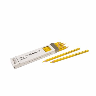 Nienhuis - 3-Sided Inset Pencils, Light Yellow