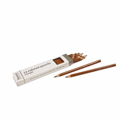Nienhuis - 3-Sided Inset Pencils, Light Brown