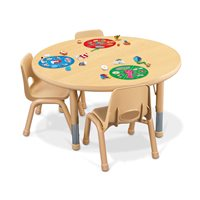 "30"" Round Heavy-Duty Toddler Table"