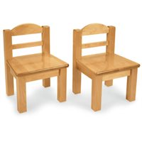 Extra Toddler Hardwood Chair-Set of 2