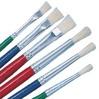 White Bristle Brushes Pk / 72
