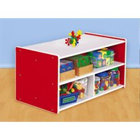 Kids Colours™ Toddler Double-Sided Storage Unit - Red