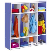 Kids Colours™ Coat Lockers For 8 - Blue