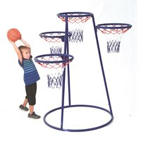 4-Rings Basketball System with Storage Bag