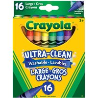 Crayola® Washable Crayons Large 16 Count - 12 Boxes