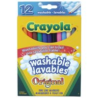 Washable Crayola Markers-Pack of 12-Thin Tip
