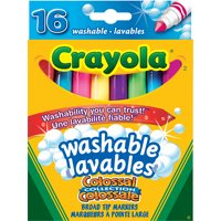Crayola Washable Markers-16Pk Broad Tip