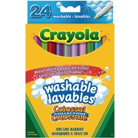 Crayola Washable Markers-24 Pack-Thin Tip