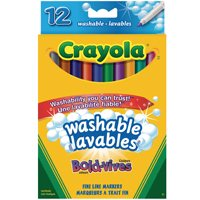 Crayola Washable Markers-12 Int. Thintip