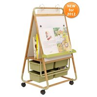 Double-Sided Bamboo Teaching Easel
