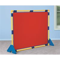 D- Easy Clean Room Divider & Legs - Red