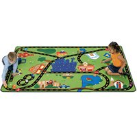 "Cruisin' Around The Town Rug -5'5"" X 7'8"""