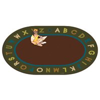 "Alphabet Circletime Nature Rug - 8'3"" x 11'8"" Oval"
