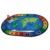 "Circle Time Around the World Rug - 6'9"" x 9'5"""