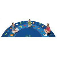 Fun With Phonics Half-Circle Carpet-5'10 X 11'8