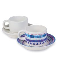 Bisque Cup and Saucer