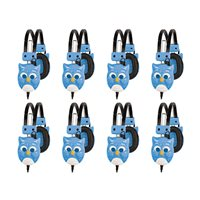 Whoo's Listening Headphone-Blue-Set of 8