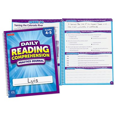 Reading Comprehension Daily Practice Journals Gr.4-5 Each