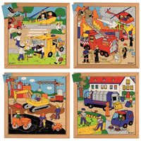 Nienhuis - Street Action Puzzles - Complete Set of 4