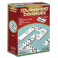 Double Six Dominoes, White w /  Black Dots