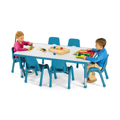 "30"" X 48"" Low Rectangular Kids Colours™ Table - Blue"