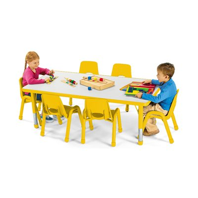 "30"" X 48"" Low Rectangular Kids Colours™ Table - Yellow"