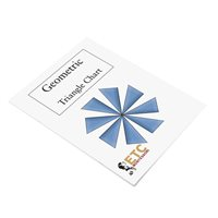 1st Level Geometry Task cards with Chart (Plastic & Cut)