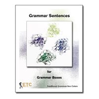D- Grammar Box Sentences And Cards Traditional Colors