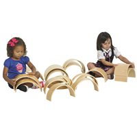 20-Pieces Wooden Tunnels & Arches