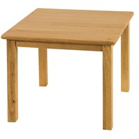 "24"" Square Hardwood Table with 22"" Leg"
