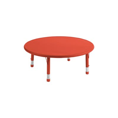 "45"" Round Adjustable Resin Table-Red"