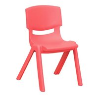 "D- 10"" Resin Chair - Red"