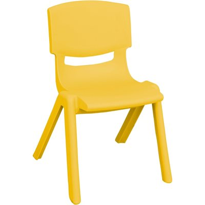 "D- 10"" Resin Chair - Yellow"
