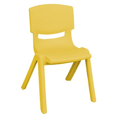 "16"" Resin Chair - Yellow"