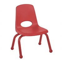 "D- 10"" Stack Chair - Matching Legs - Red"