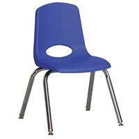 "12"" Classic School Stack Chair - Blue"