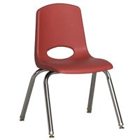 "12"" Classic School Stack Chair - Red"