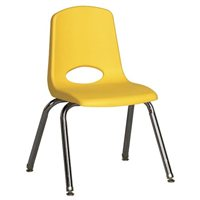 "12"" Classic School Stack Chair - Yellow"