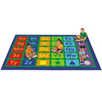 Learning Letters & Shapes Activity Carpet - 6' x 9'