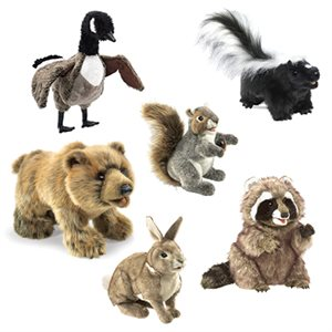 Canadian Animals Puppet Set 2- Set of 6